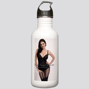Black Corset [front] Stainless Water Bottle 1.0L